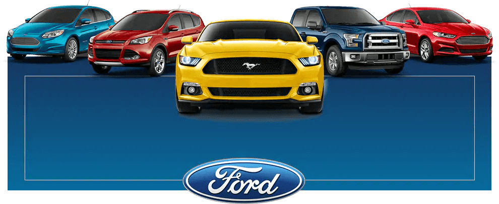 Line up of ford cars