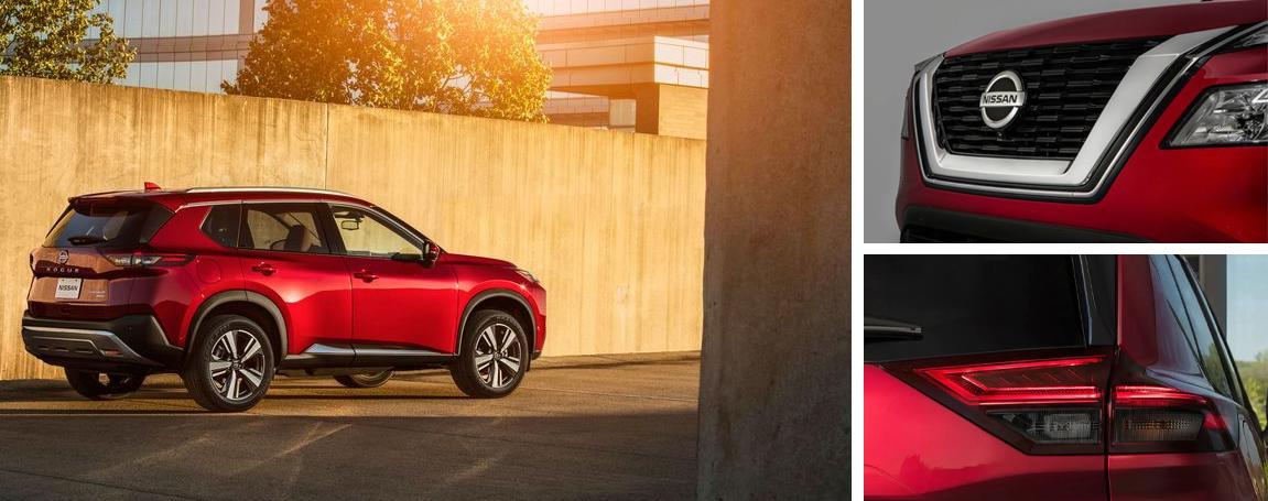 le design de Nissan Rogue 2021 à Ste-Foy Nissan dans la ville de Québec