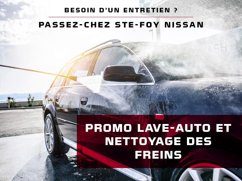 Promo lave-auto et nettoyage des freins